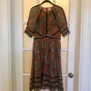 ZIMMERMAN COTTON SILK MIDI DRESS